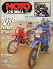 MOTO JOURNAL  685 SUZUKI GSX-R 750 HUSQVARNA 240 Paris Dakar Gaston RAHIER 1985