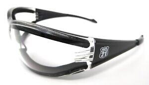 Motorcycle Sunglasses Shatterproof UV400 Anti-Fog Clear Padded Biker Glasses
