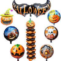 100PCS Halloween Foil Balloon Supershape Pumpkin Bat Ghost Bouquet Party Decor