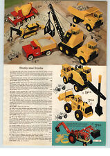 1976 ADVERT Toy Nylint Trucks Earthmover Bulldozer Michigan Shovel Loader Scaper