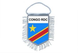 Mini banner flag pennant window mirror cars country banner congo rdc