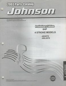 2003 JOHNSON OUTBOARD  6 HP 4 STROKE PARTS MANUAL 5005157 (131)