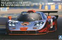 Aoshima 1/24 Model Car Kit Gulf Racing McLaren F1 GTR #41 24Hours Le Mans 1997