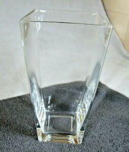 Lovely Modern Clear Glass Square Flower Vase