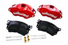 "Wilwood Red D52 Brake Calipers & Pad Set 68-96 GM 1.040"" Front Rotors"