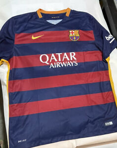 Nike Dri Fit Barcelona Jersey Shirt 2015 Home Men's Sz XXL Soccer Great Conditio