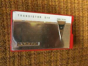 1960s vintage transistor radio - SHARP tr-210 RED hayakawa electric co.ltd.