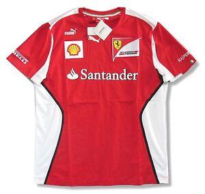 Ferrari Puma Santander Team Red Soccer Style Adult T Shirt Brand New Official