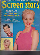 Screen Stars May 1958 Mitzi Gaynor Pat Boone Molly Bee Ricky Nelson Tommy Sands