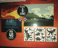 Colorforms JURASSIC WORLD Sticker Story Picture Toy T-Rex Raptor Blue Dinosaurs