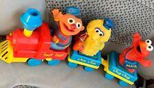 Vintage Tyco SESAME STREET Parade TRAIN Wind up Toy w/ Ernie ELMO & Big Bird