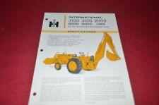 International Harvester 3120 3130 Backhoe 2000 Loader Dealer's Brochure YABE10