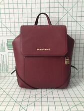 NWT Michael Kors Hayes Medium Leather Backpack Book Bag In Mulberry Ballet