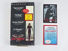 THE CROW Premium Trading Card & VHS movie 1995 Kitchen Sink Collector Buena Vist
