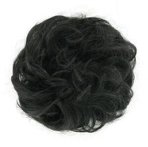 """chouchou chignon cheveux châtain foncé """"brun"""" ref: 17 en 2"""