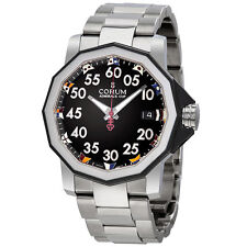 Corum Admiral's Cup Black Dial Stainless Steel Automatic Mens Watch