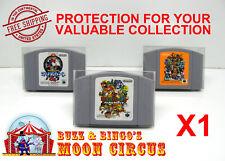 1X NINTENDO N64 JAPAN IMPORT CARTRIDGE -CLEAR PLASTIC PROTECTIVE BOX PROTECTOR