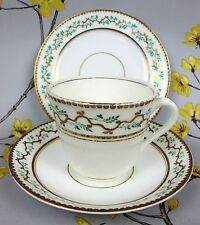 Antique Victorian hand painted TEA TRIO: Cup, Saucer, Side / Cake Plate.