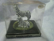 ZEBRAS MOTHER AND BABY FIGURINE River Grove Pottery Works,zebra,africa,stripes