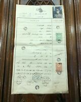 Antique Ottoman document military petition with a photo of the petitioner solder