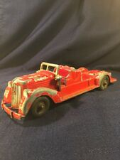 "Vintage HUBLEY Die Cast FIRE TRUCK 9-1/2"" Long"