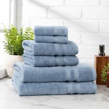 6 Piece 100% Cotton Towel Set, 2 Bath Towels, 2 Hand Towels, 2 Wash Cloths