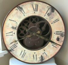Wall Clock Antique Gear Style with Roman/Greek Style Face Infinity Instruments