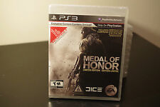 Medal of Honor -- Limited Edition (Sony Playstation 3, 2010) New  Factory Sealed