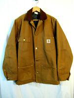 VTG USA made Men's Carhartt Duck 6BLCL Blanket Lined Chore Rancher Coat 42 Tall