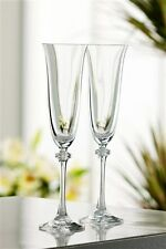 Pair Galway Crystal Liberty Champagne Flutes Glasses NEW Boxed RRP £20