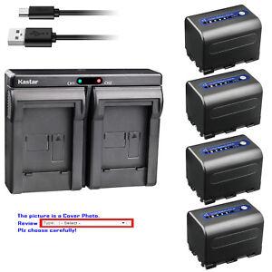 Kastar Battery Dual USB Charger for Sony NP-QM71D & Sony DCR-DVD301 DCR-DVD91