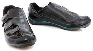 Shimano SH-WR84 Women Carbon Road Bike Shoes EU 40 US 7.8 3 Bolt Black SPD SL