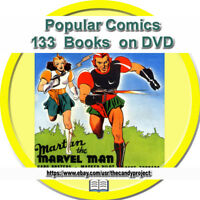 Popular Comic Magazine Dell 133 Comics Pulp Fiction 1940s PDF Bob Bugg 2 DVDs