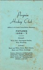 Penguin Hockey Club (West Worthing) Fixture List 1956/7