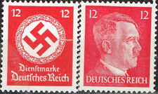 Germany WW2 Third Reich Symbols Hitler Swastika stamps 1942 MNH red