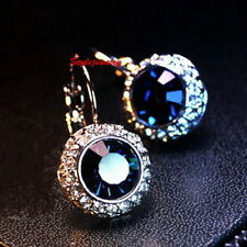 Leverback Crystal White Gold Filled Fashion Earrings