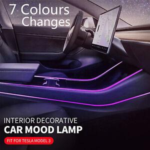 Interior Decorative Car Mood Lamp Car Center Atmosphere Light for Tesla Model 3