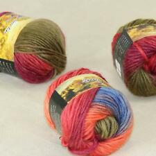 Sale Lot of 3 Skeins New Knitting Yarn Chunky Colorful Hand Wool Wrap Scarves 21