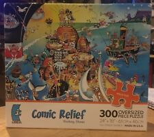 Comic Relief Puzzle - 300 Oversized Pieces - Rocking Stones by Ceaco -Sealed