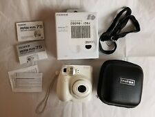 Fuji Instax Mini 7s Instant Camera White with black camera bag case strap