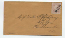 1860s #64b 3ct 1851 rose pink cover Springfield MA PF cert [y5652]