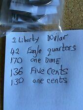 More details for american coins job lot 480 coins 1.8kg p+d mints