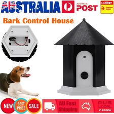 Puppy Pet Dog Ultrasonic Outdoor Stop Bark Anti Barking Control Device House AU