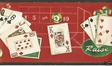 NEW Poker Gambling Casino Cards Wall Border 10 yrds 2 Rolls By Borden