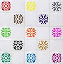 """Floral Decals / Transfers / Stickers for Kitchen, Bathroom For 6""""x 6"""" Tiles FL01"""