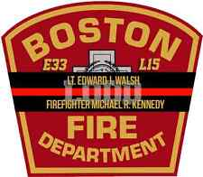 "2"" Boston Fire LODD Lt.Edward Walsh & Firefighter Michael Kennedy Memorial Decal"