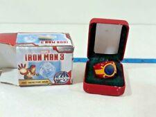 Marvel Iron Man 3 ARC Reactor Ring Size 8 Lights Up