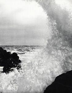 1968 Vintage LUCIEN CLERGUE Sea Wave Splash Rock Water Seascape Photo Art 12x16