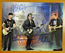 U2 Band Signed All Four Members 11x14 Photo Jsa/Psa Guarantee