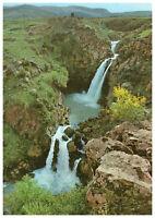 Golan Heights, The Doves Waterfall at Wadi Saar, Israel, Palestine Rare Postcard